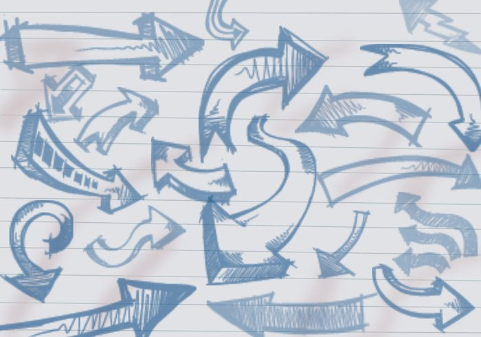 arrow doodles brushes jpg