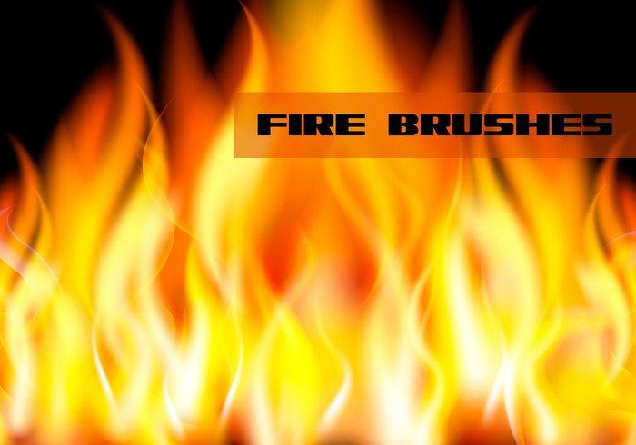 fire flame brushes jpg