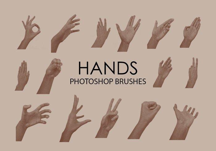 free hands photoshop brushes jpg
