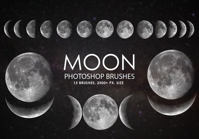 free moon photoshop brushes jpg