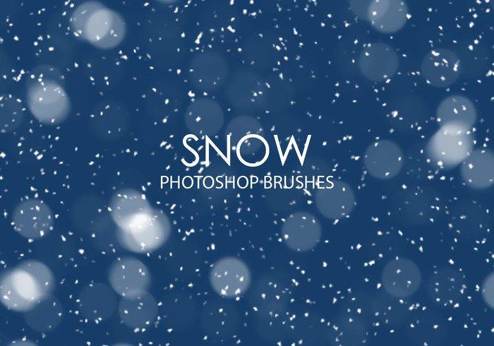 free snow photoshop brushes jpg