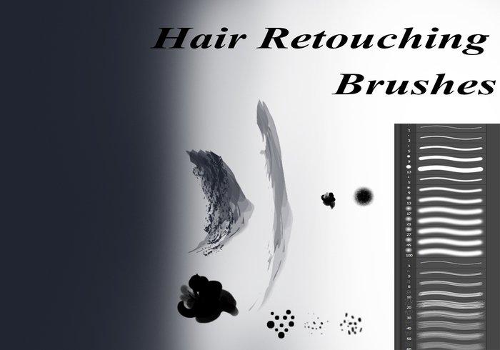 hair retouching brushes for photoshop jpg