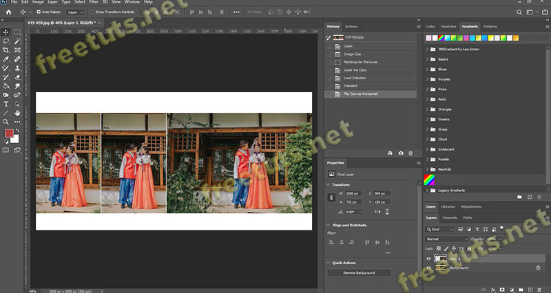 cach lat layer trong Photoshop 3 jpg
