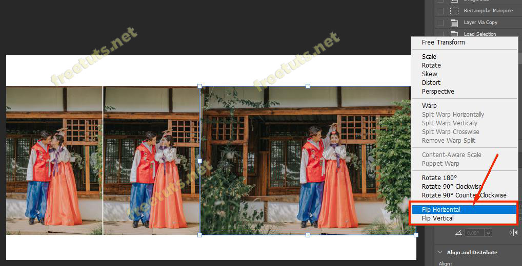 cach lat layer trong Photoshop 4 jpg