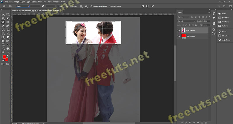 cong cu crop tool trong Photoshop 1 jpg