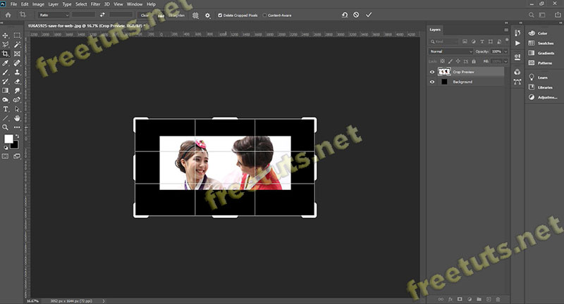 cong cu crop tool trong Photoshop 3 jpg