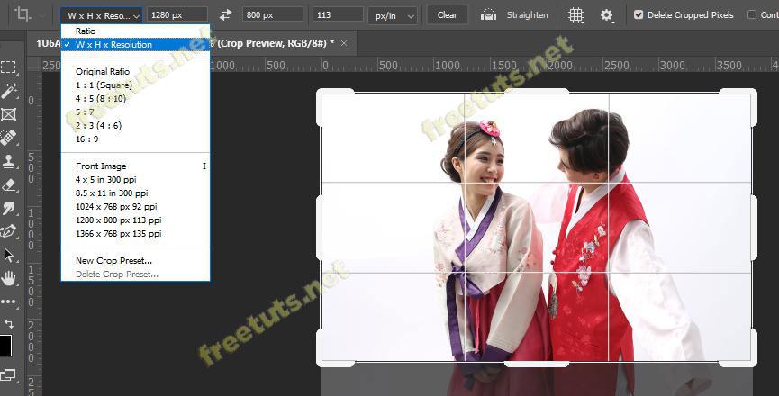 cong cu crop tool trong Photoshop 5 jpg
