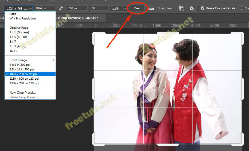 cong cu crop tool trong Photoshop 6 jpg