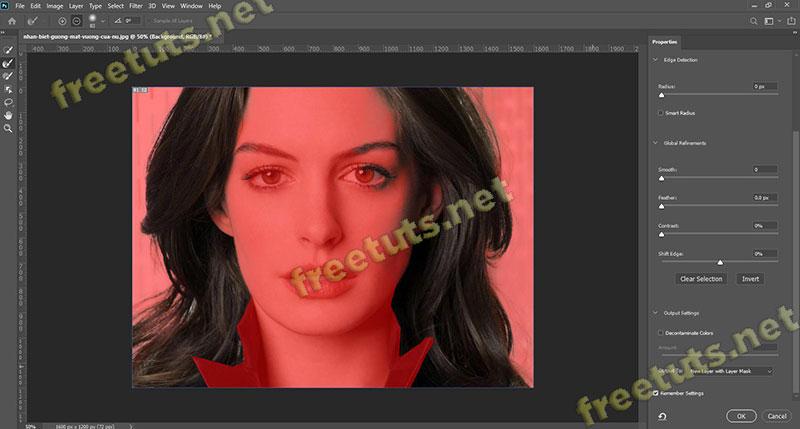 Cach tach toc ra khoi nen trong photoshop 14 jpg