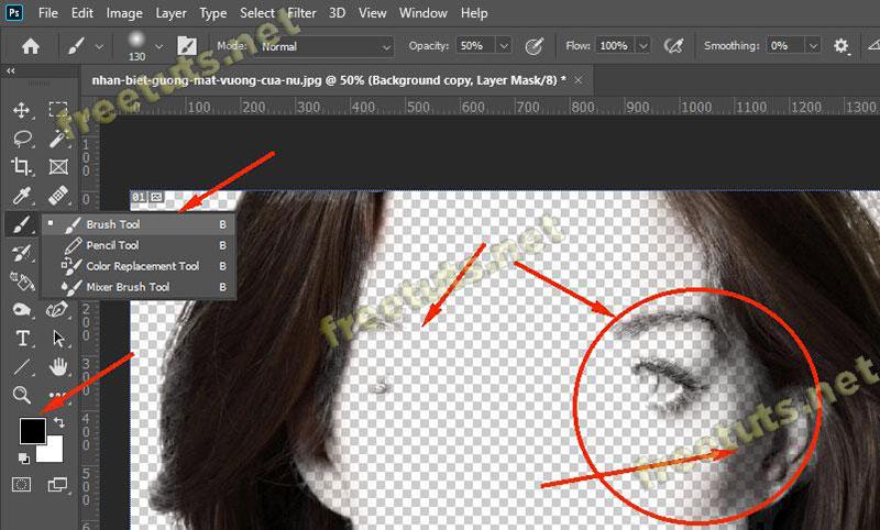 Cach tach toc ra khoi nen trong photoshop 16 jpg