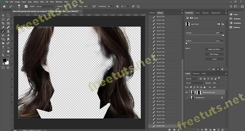 Cach tach toc ra khoi nen trong photoshop 17 jpg