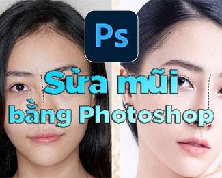 Cách sửa mũi bằng Photoshop (nâng mũi, làm mũi cao)