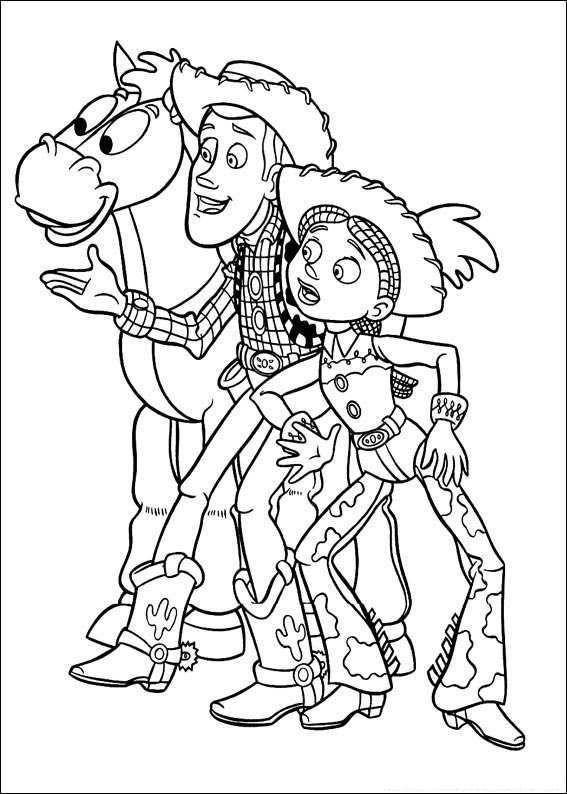 Tranh to mau cho be phim hoat hinh Toy Story jpg