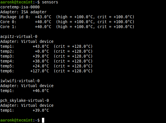 Check CPU and GPU Temperature using sensors png
