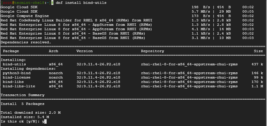 Install Bind Utils in CentOS 1  png