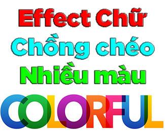 Tạo hiệu ứng chữ chồng chéo nhiều màu sắc trong Photoshop