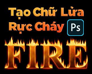 Tạo hiệu ứng chữ lửa nóng rực trong Photoshop